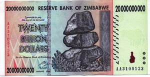 Zimbabwe 20 billion dollars