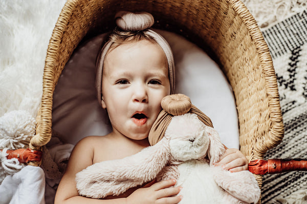 Babies and toddlers love stuffed bunnies!