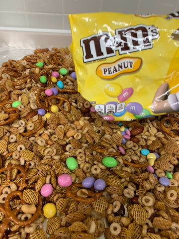 Adding M&M Candies to Trail Mix