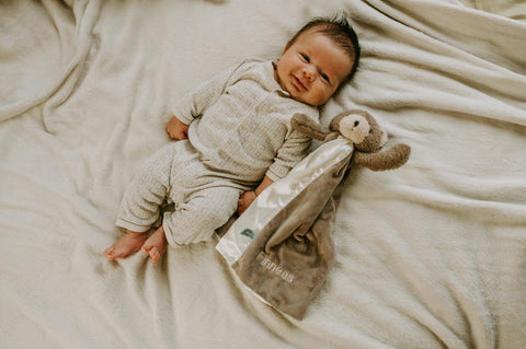 Baby with Personalized Lovey