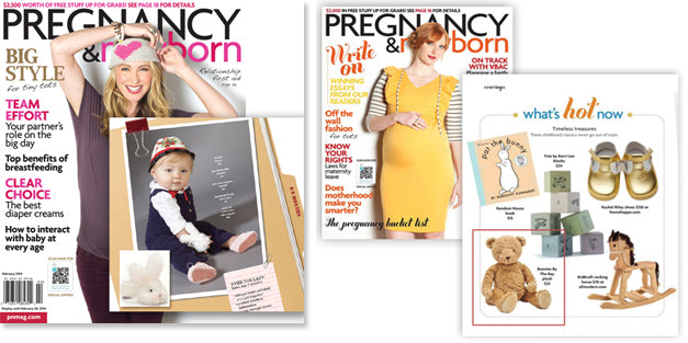 Bunnies By The Bay featured in Pregnancy & Newborn Magazines