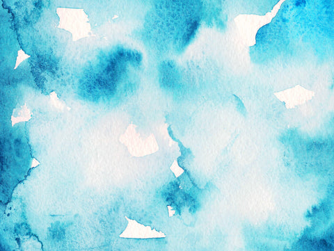 Abstract watercolor painting in blue