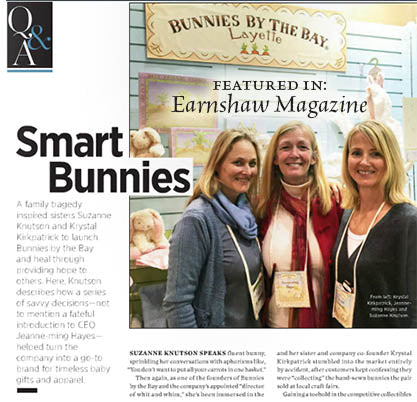 Bunnies by the Bay Featured in Earnshaw Magazine
