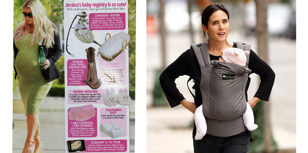 Jessica Simpson - Baby Registry...Cuddle Toe Slippers!  Jennifer Connelly & baby Agnes! Wearing our Bunny Beanie!
