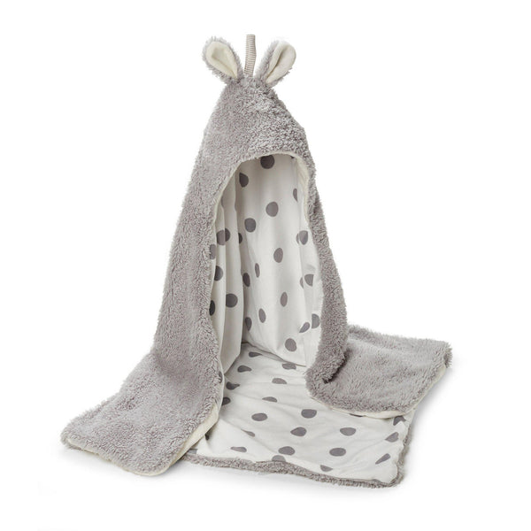 Image of Bunny Hooded Blanket - Grey-Bunnies By The Bay-bbtbay