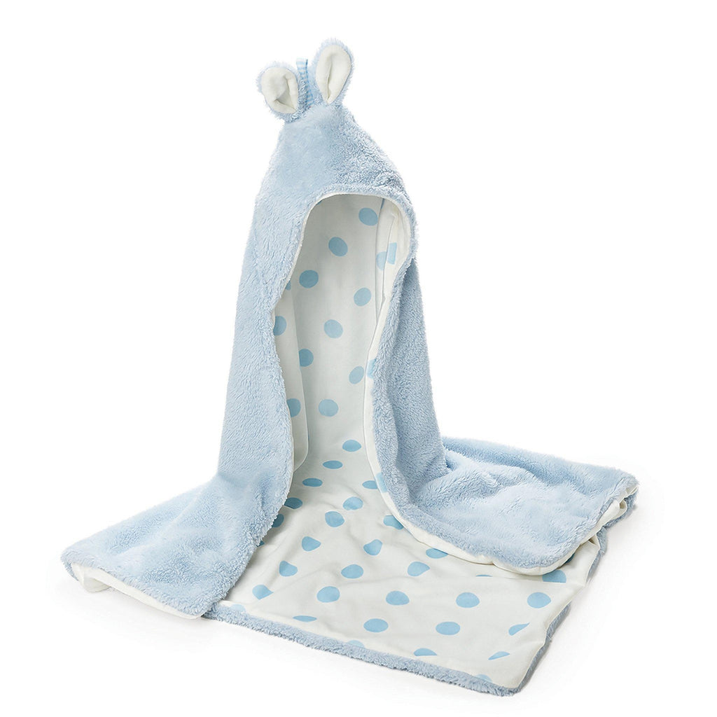 Image of Bunny Hooded Blanket - Blue-Hooded Blanket-Bunnies By The Bay-bbtbay