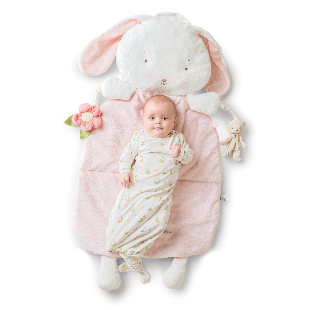 [product-color] Blossom Bunny Pillow Play Mat 3-in-1 a Play Mat from Bunnies By the Bay: -843584013550-100408