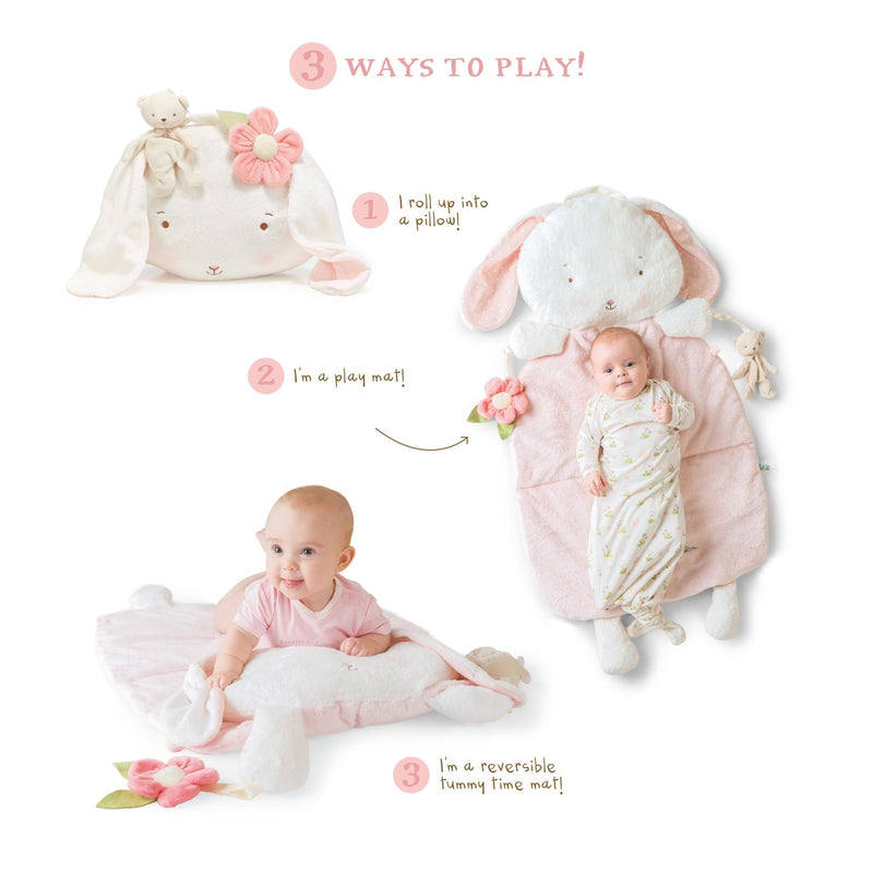 Blossom Bunny Pillow Play Mat 3-in-1-Play Mat-Bunnies By The Bay