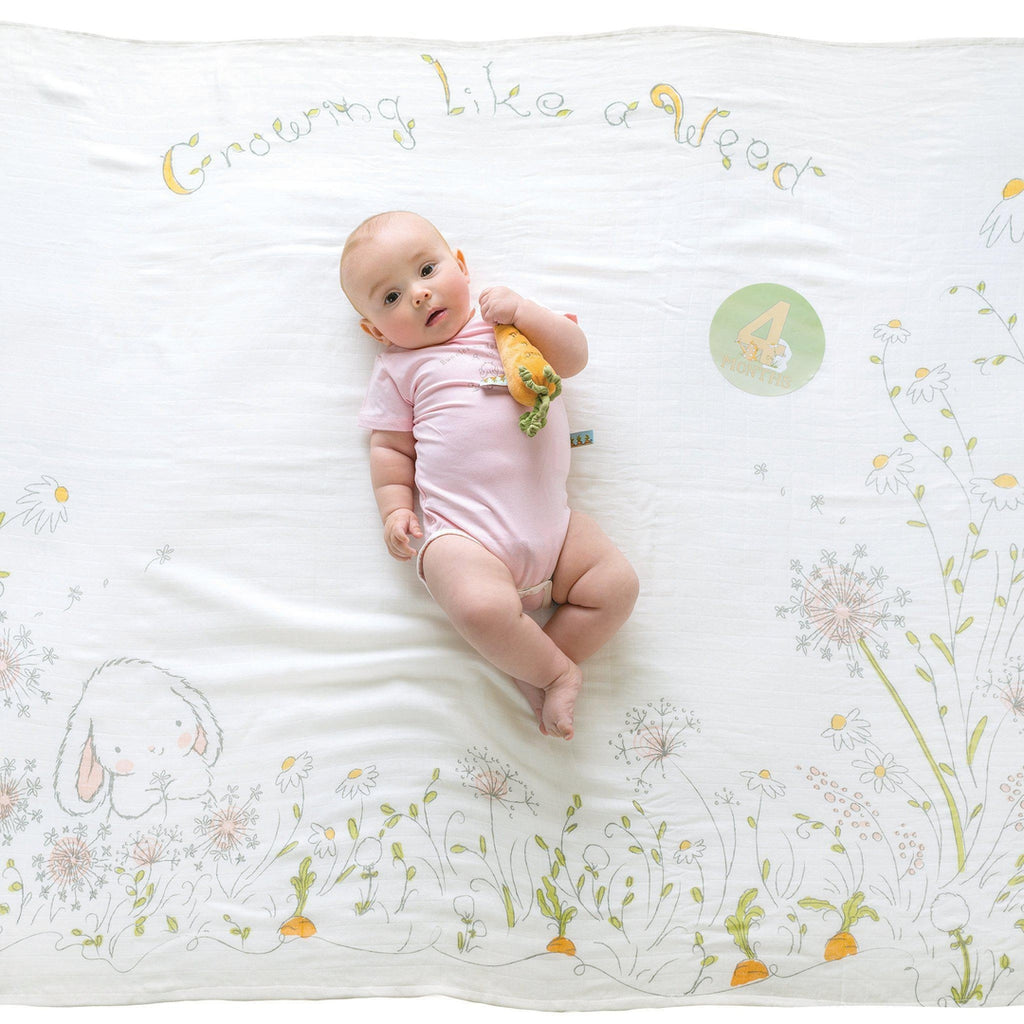 Image of Growing Like A Weed Milestone Blanket-Milestone Blanket-Bunnies By the Bay-bbtbay