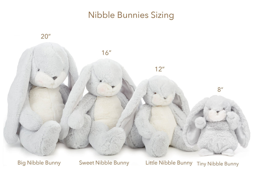 Image of Big Nibble Bunny - Grey-Stuffed Bunny-Bunnies By the Bay-bbtbay