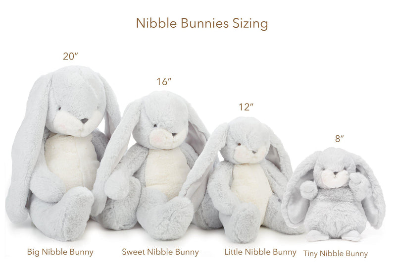 "RETIRED - Limited Edition - Holiday Sweet Nibble Gray 16"" Bunny-Holiday Plush-SKU: - Bunnies By The Bay"