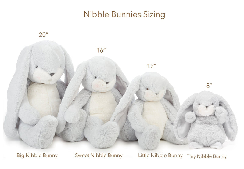 "Bunny Plush Stuffed Animal - Sweet Nibble 16"" Bunny - Gray-Stuffed Bunny-SKU: 100429 - Bunnies By The Bay"