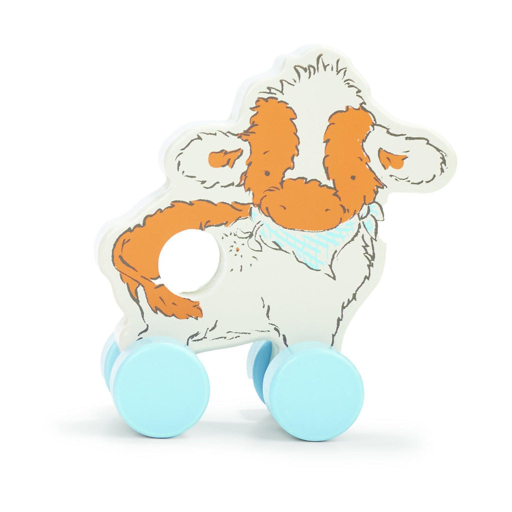 [product-color] Moo Moo Cow Push Toy a Push Pull Toy from Bunnies By the Bay: -843584014052-100433