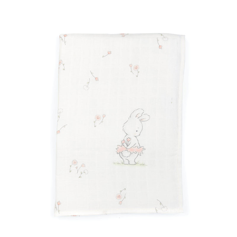 Blossom Tutu Delight Swaddle Blanket-Swaddle Blanket-Bunnies By The Bay