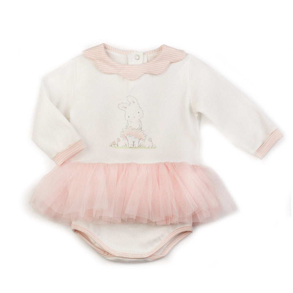 Image of Blossom Tutu Delight Bunsie-Apparel-Bunnies By The Bay-6-9 months-White/Pink-bbtbay