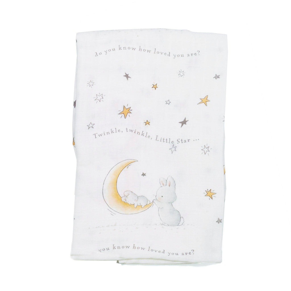 [product-color] Bloom Twinkle Twinkle Swaddle Blanket a Swaddle Blanket from Bunnies By The Bay: -843584014588-100728