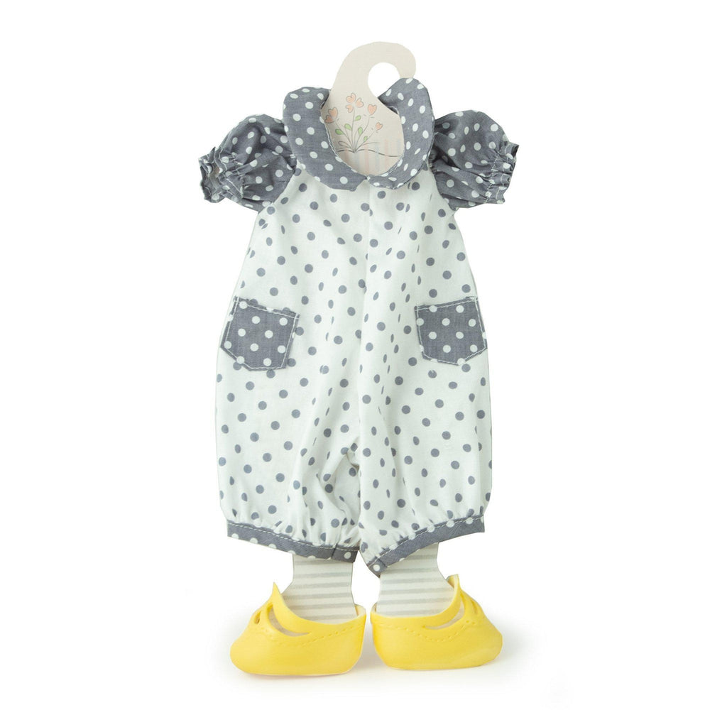 [product-color] Dotty Romper Set - Doll Clothes a Doll from Bunnies By The Bay - Wholesale: -843584016940-100889