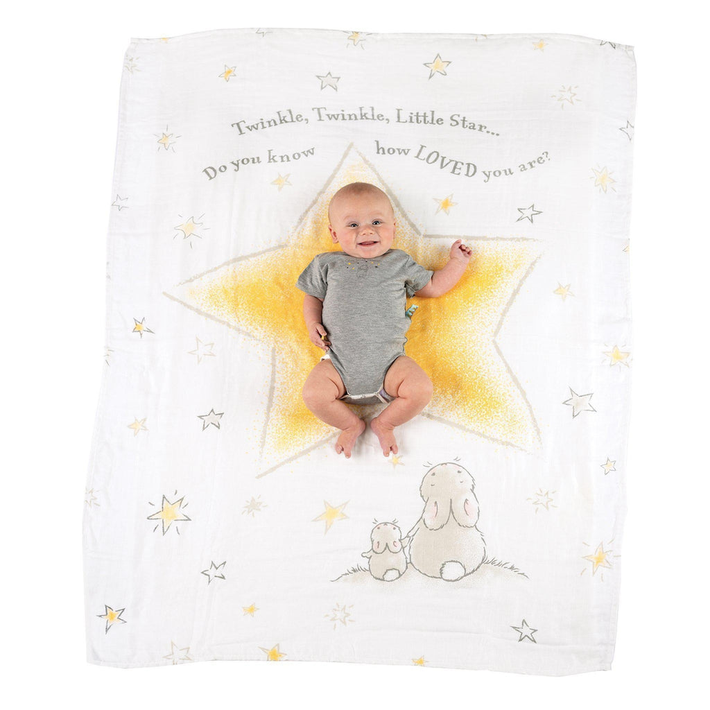 [product-color] Twinkle Twinkle Milestone Blanket a from Bunnies By The Bay - Wholesale: -843584017145-100899