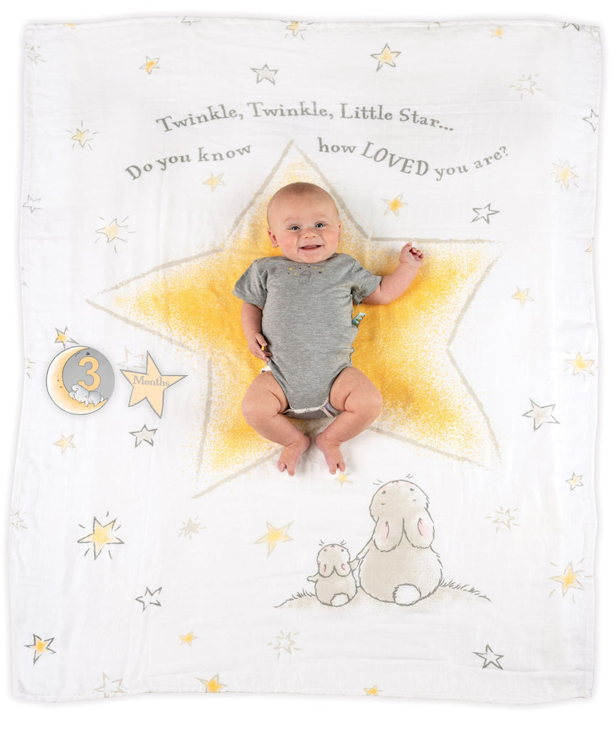 Twinkle Twinkle Milestone Blanket--Bunnies By The Bay