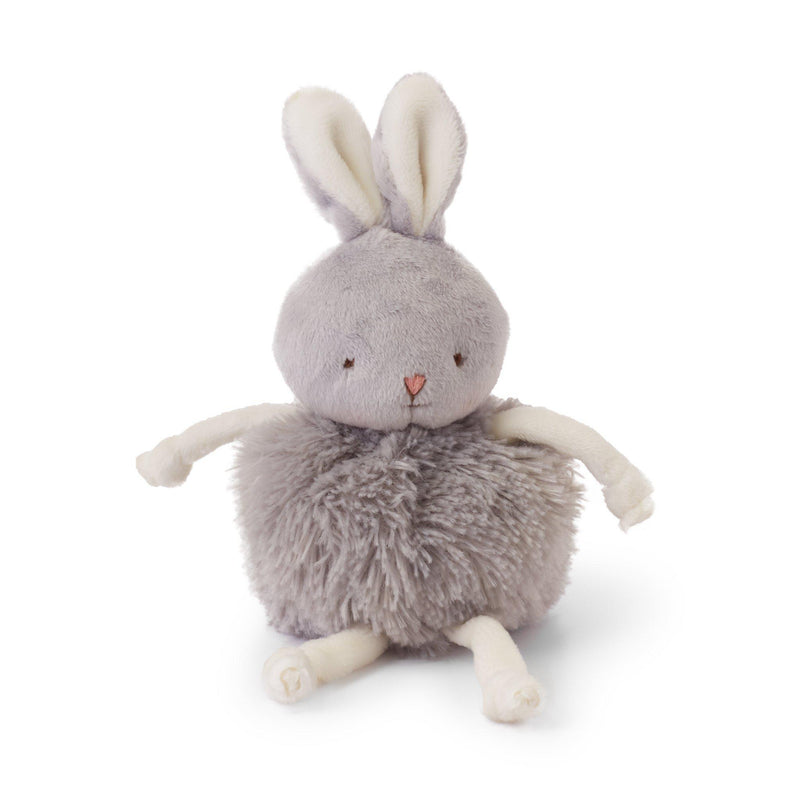 Bunny Plush Stuffed Animal - Roly Poly Bloom Gray - Limited Edition-Stuffed Animal-SKU: 101021 - Bunnies By The Bay