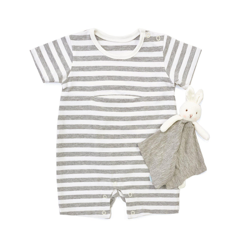 Bloom Romper with Binkie-Apparel-SKU: - Bunnies By The Bay