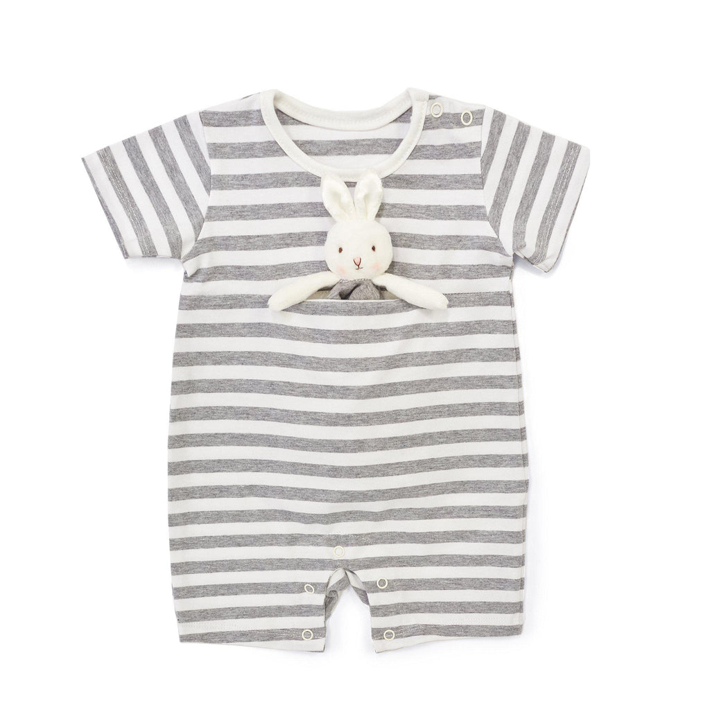 Bloom Romper with Binkie-Apparel-SKU: 101052 - Bunnies By The Bay