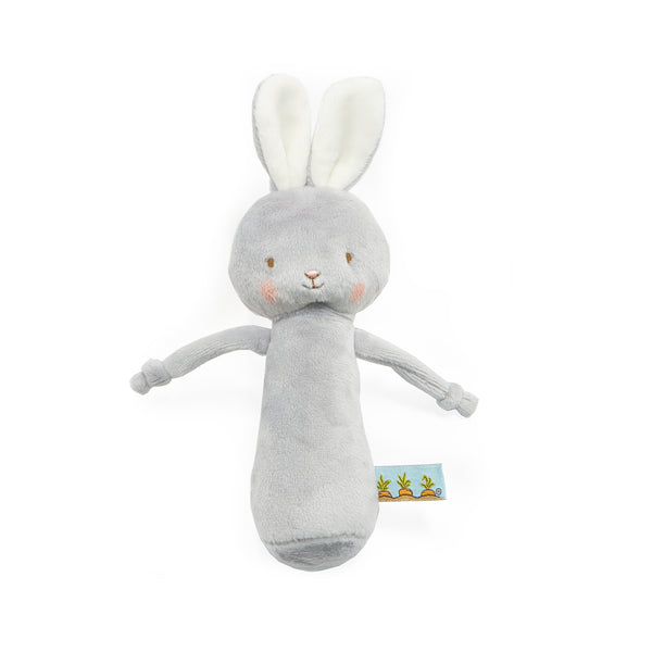 Friendly Chime Gray Bunny-Rattle-SKU: 101061 - Bunnies By The Bay