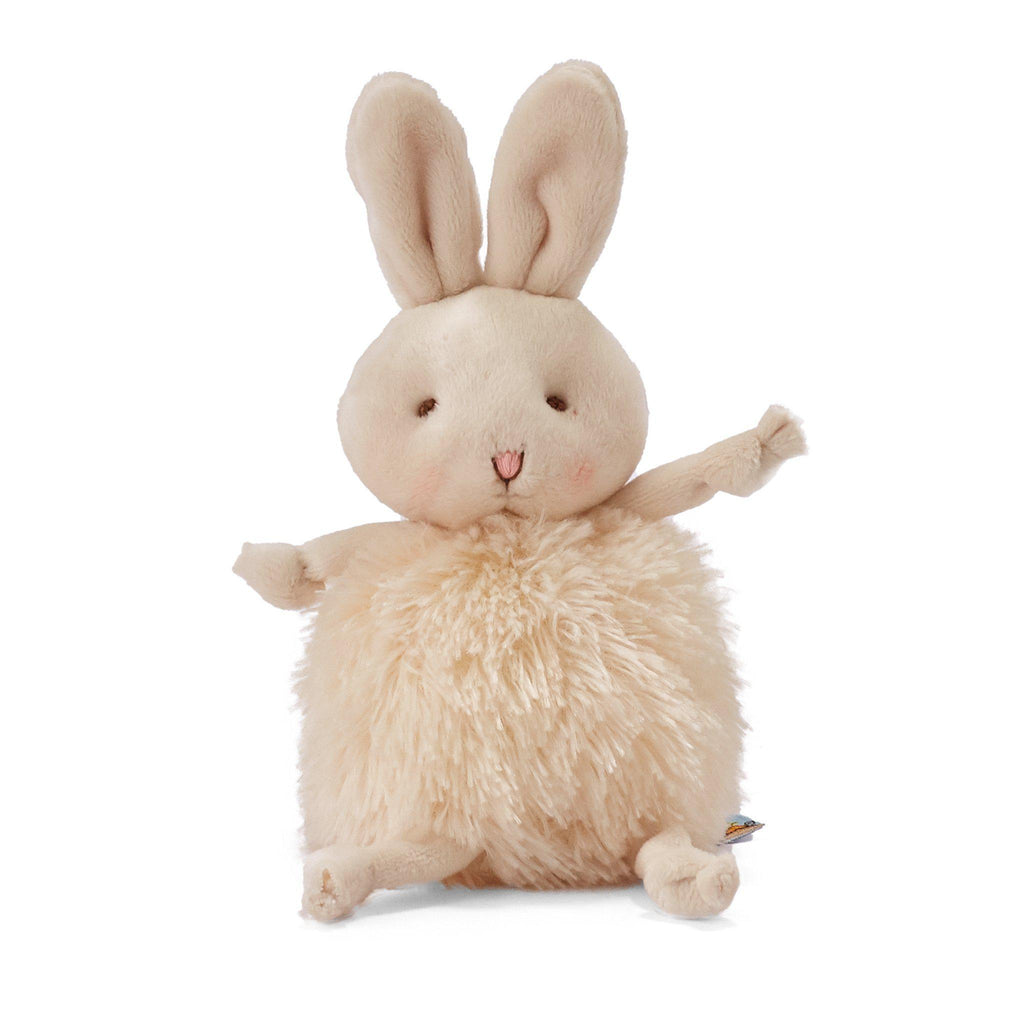 Bunny Plush Stuffed Animal - Roly Poly Rutabaga Cream Bunny - Limited Edition-Stuffed Animal-SKU: 101064 - Bunnies By The Bay