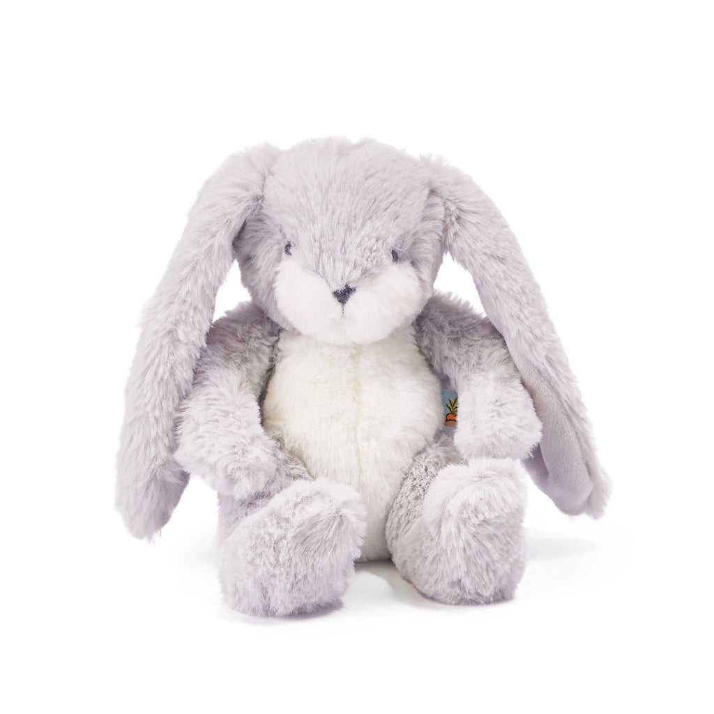 "Bunny Plush Stuffed Animal - Wee Nibble 8"" Bunny Gray-stuffed animal-SKU: 101071 - Bunnies By The Bay"