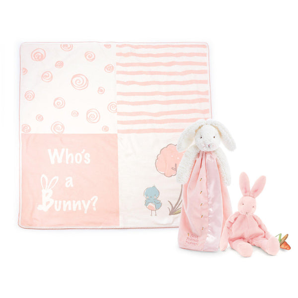 Blossom Bunny Lovies On-The-Go Baby Gift Set-Gift Set-SKU: 103108 - Bunnies By The Bay