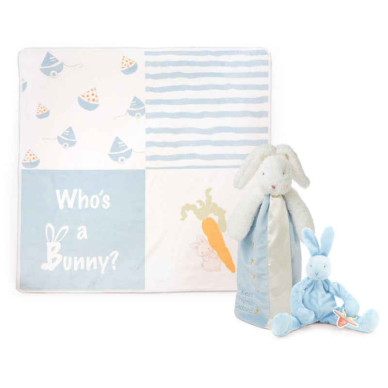 Bud Bunny Lovies On-The-Go Baby Gift Set-Gift Set-SKU: 103109 - Bunnies By The Bay