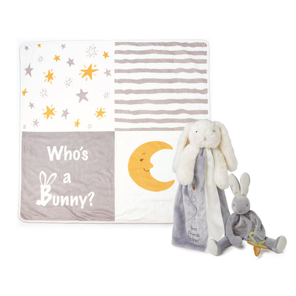 Bloom Bunny Lovies On-The-Go Baby Gift Set-Gift Set-SKU: 103111 - Bunnies By The Bay