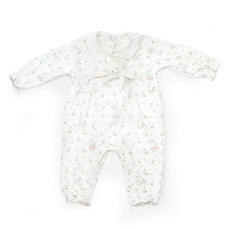 Blossom Playsuit and Binkie Set-Blossom Bunny-SKU: - Bunnies By The Bay