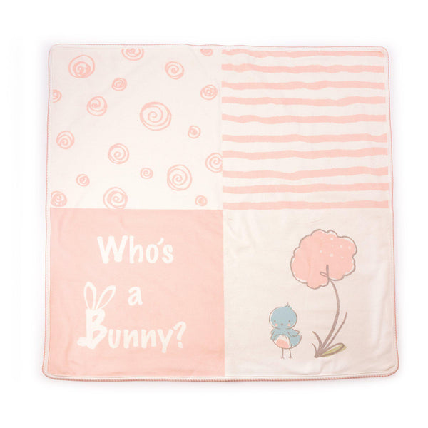 Blossom Who's a Bunny Receiving Blanket-Blossom Bunny-SKU: 106020 - Bunnies By The Bay