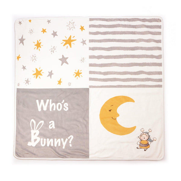 Bloom Who's a Bunny Receiving Blanket-Bloom Bunny-SKU: 106021 - Bunnies By The Bay