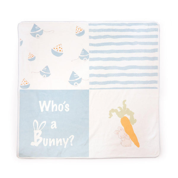 Bud Who's A Bunny Receiving Blanket-Bud Bunny and Skipit Puppy-SKU: 106022 - Bunnies By The Bay