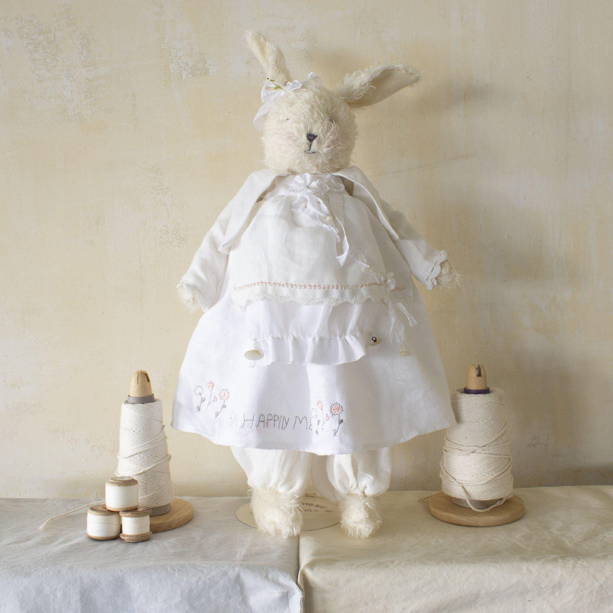 Hutch Studio - Miss Lily Linen - One Of A Kind Bunny