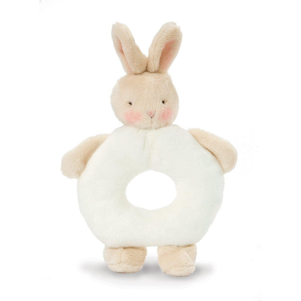 Image of Bunny Ring Rattle-Rattle-Bunnies By the Bay-White-bbtbay