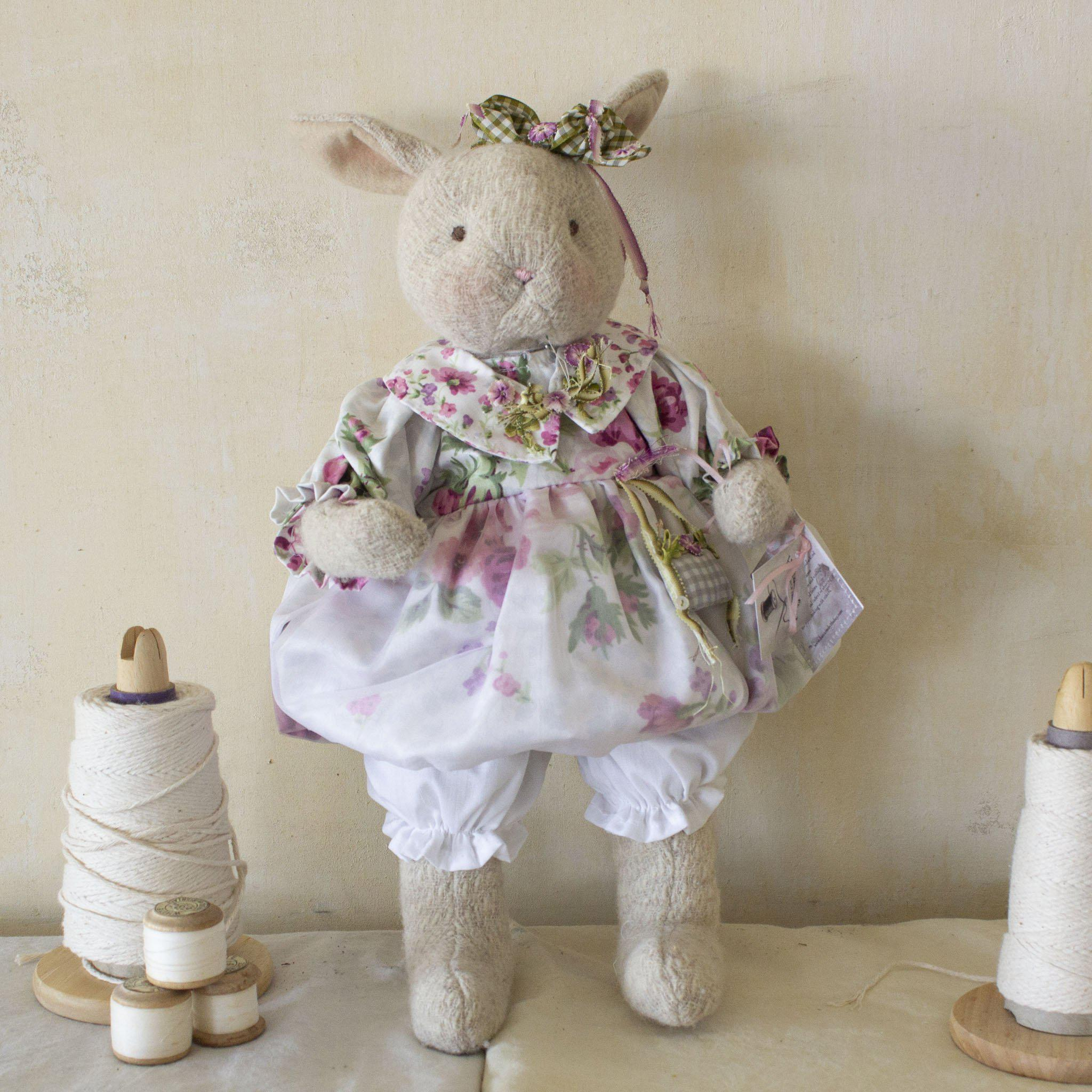 Hutch Studio - Rosey Posey - One Of A Kind Bunny