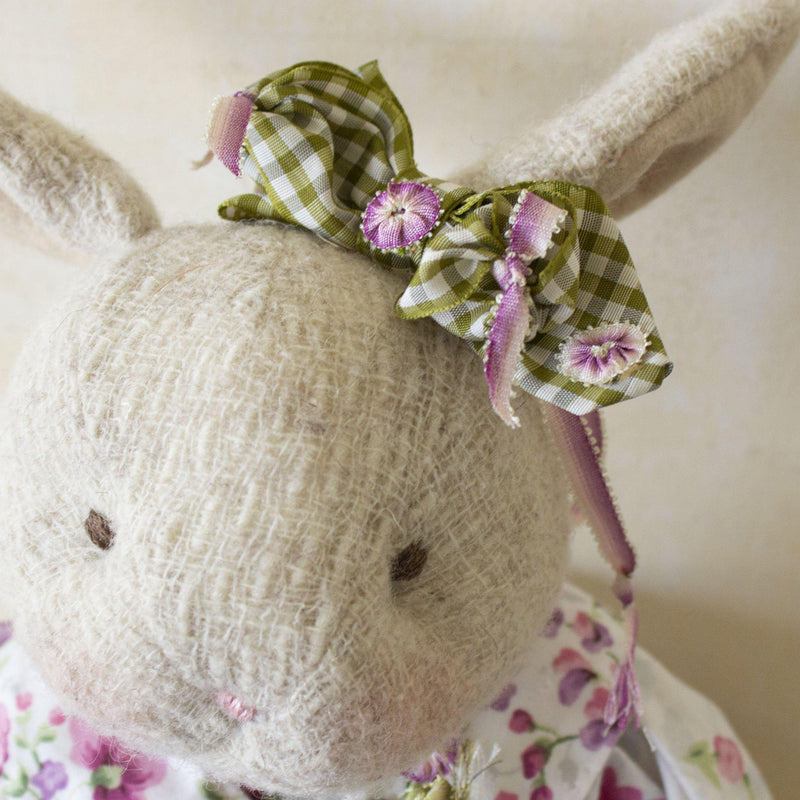 Hutch Studio - Rosey Posey - One Of A Kind Bunny-HutchStudio Original-Bunnies By The Bay