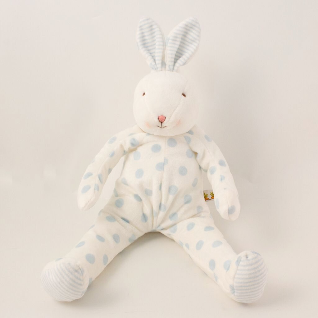 Image of Polka dots Bunny Blue - Carrots® Collection-Stuffed Bunny-Bunnies By the Bay-bbtbay