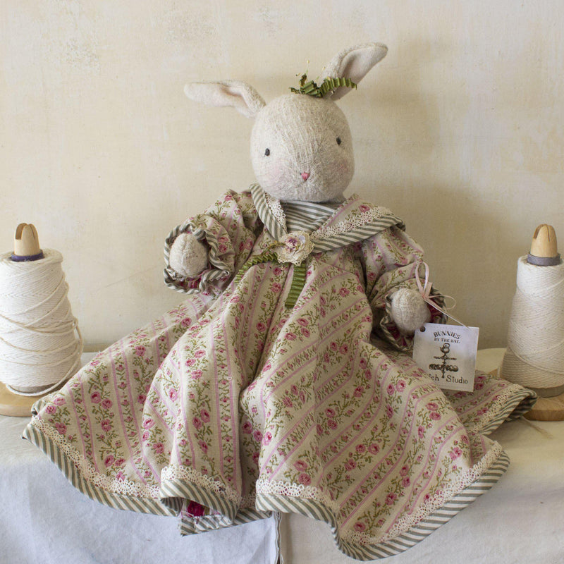 Hutch Studio - Rose Trellis - One Of A Kind Bunny-HutchStudio Original-Bunnies By The Bay