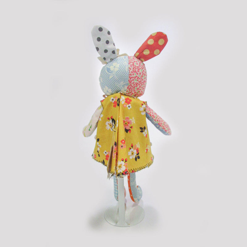 RETIRED - Hutch Studio - Bunny in Yellow Dress - One Of A Kind Bunny-HutchStudio Original-SKU: HS2A - Bunnies By The Bay