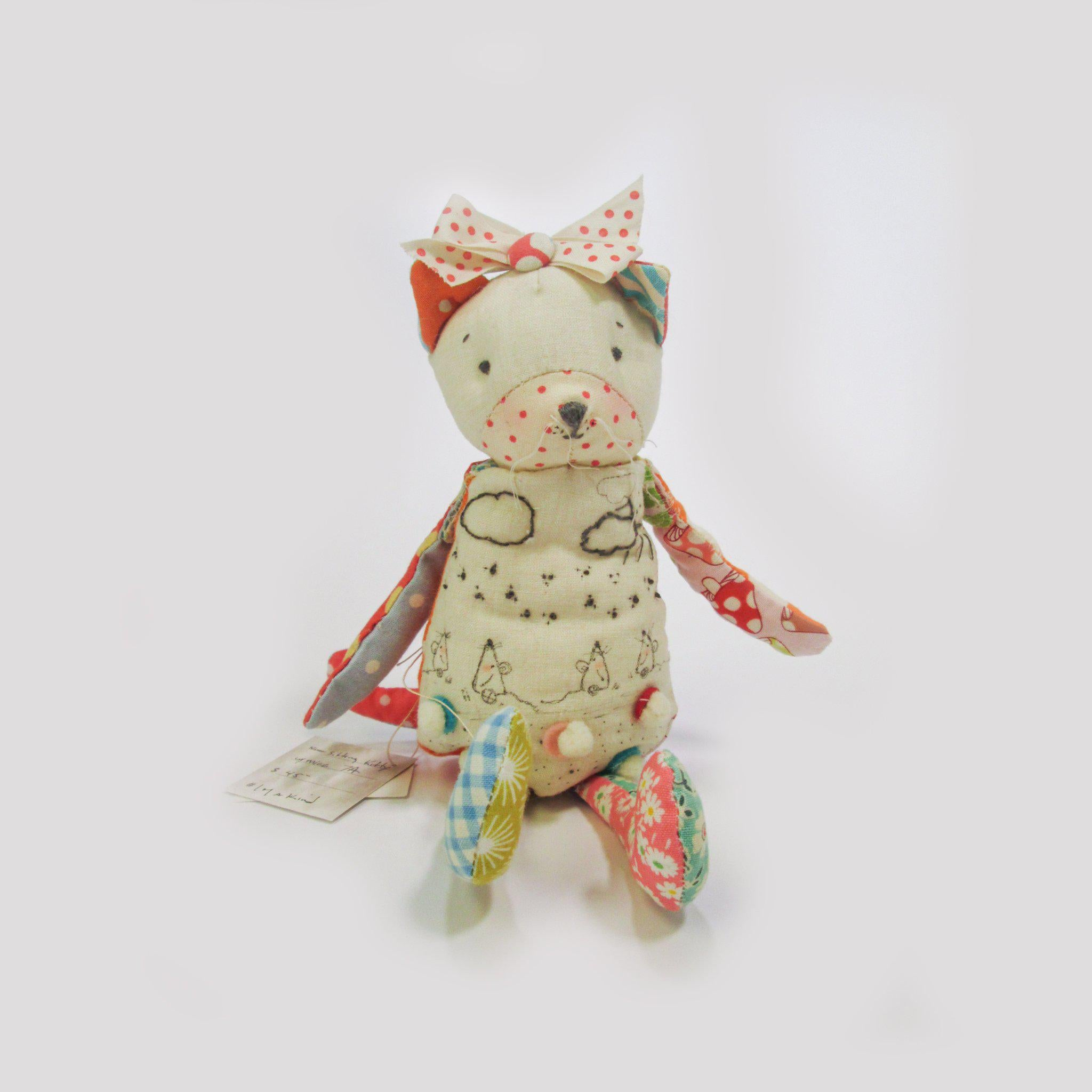 Hutch Studio - Kitty with Mice - One Of A Kind Kitty