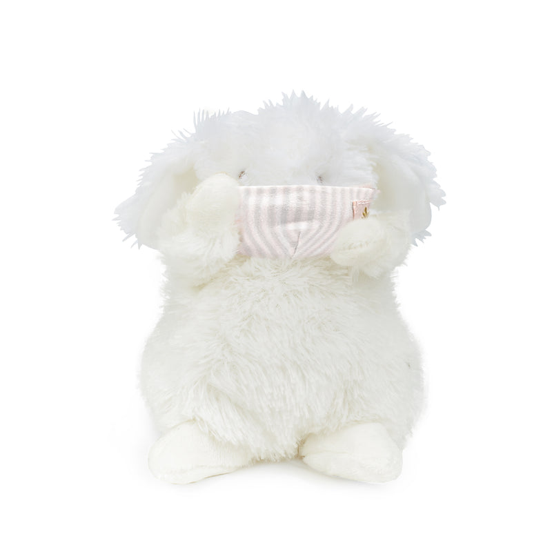 Wee Ittybit Bunny with Face Mask-Stuffed Animal-SKU: 101140 - Bunnies By The Bay