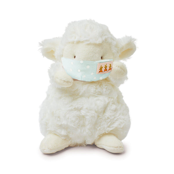 Wee Kiddo Lamb with Face Mask-Stuffed Animal-SKU: 101141 - Bunnies By The Bay
