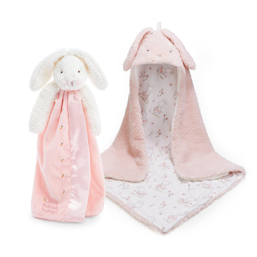 [product-color] Blossom Hooded Blanket and Buddy Gift Set a from Bunnies By The Bay: -843584017954-100824