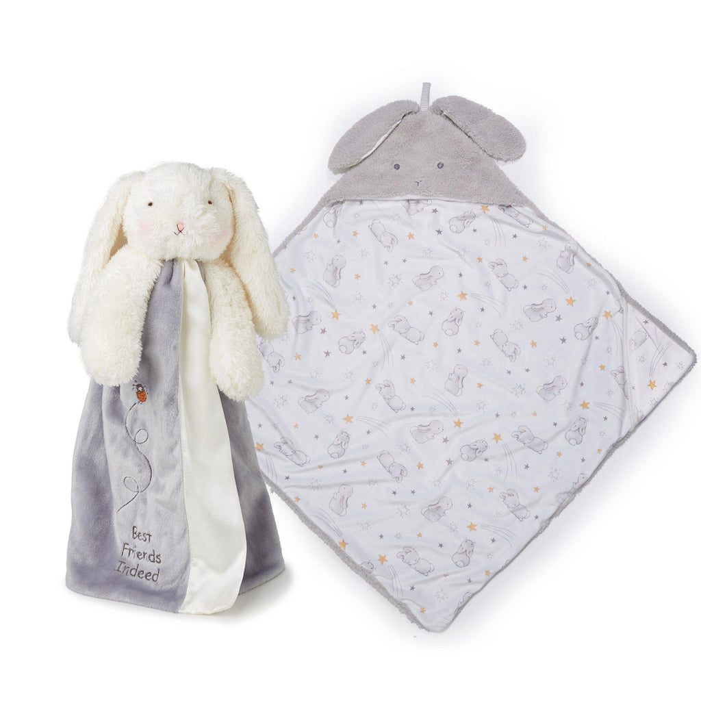 [product-color] Bloom Hooded Blanket and Buddy Gift Set a Gift Set from Bunnies By The Bay: -843584017978-100825