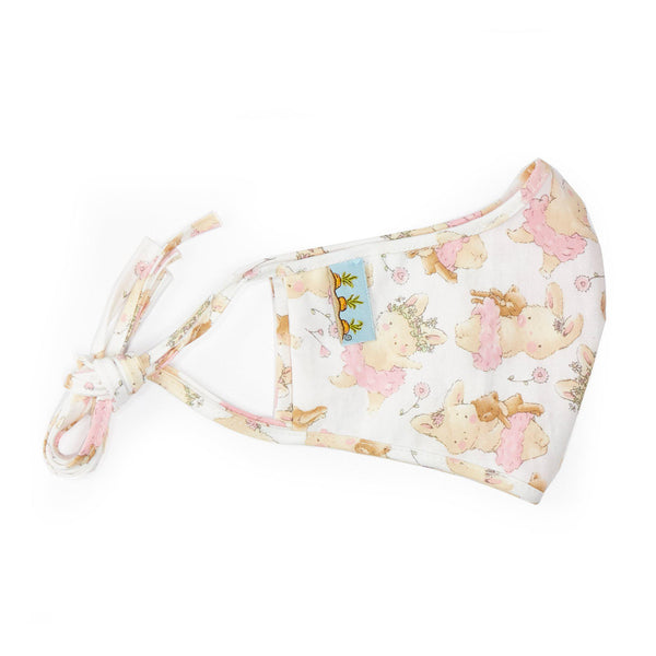 Adult Cloth Face Mask - TuTu Blossom Bunny-Face Mask-SKU: AdultTuTuBlossom - Bunnies By The Bay