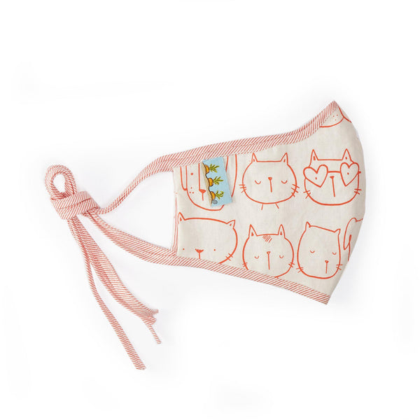 Adult Cloth Face Mask - Cool Cats-Face Mask-SKU: AdultCatMask - Bunnies By The Bay